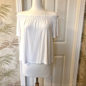 White Wilfred off the shoulder loose top